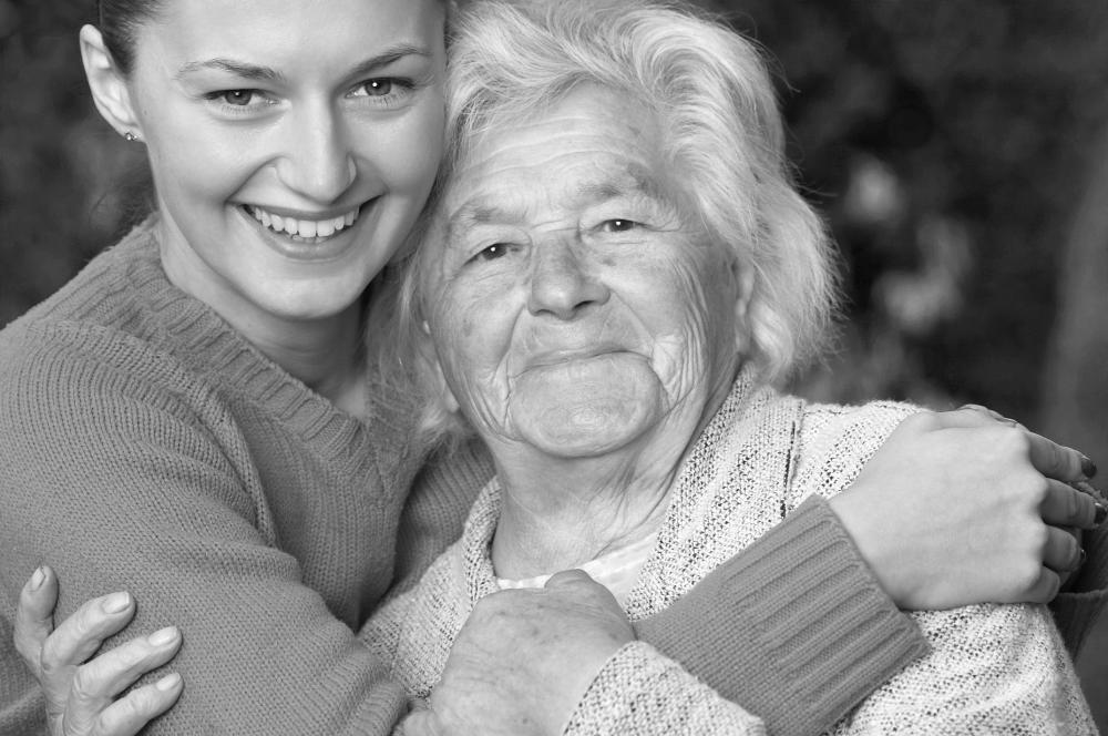Afbeelding Oudere vrouw en jonge dame